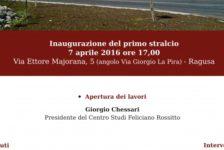 """Inaugurazione nuova sede Centro Studi """"Feliciano Rossitto"""""""